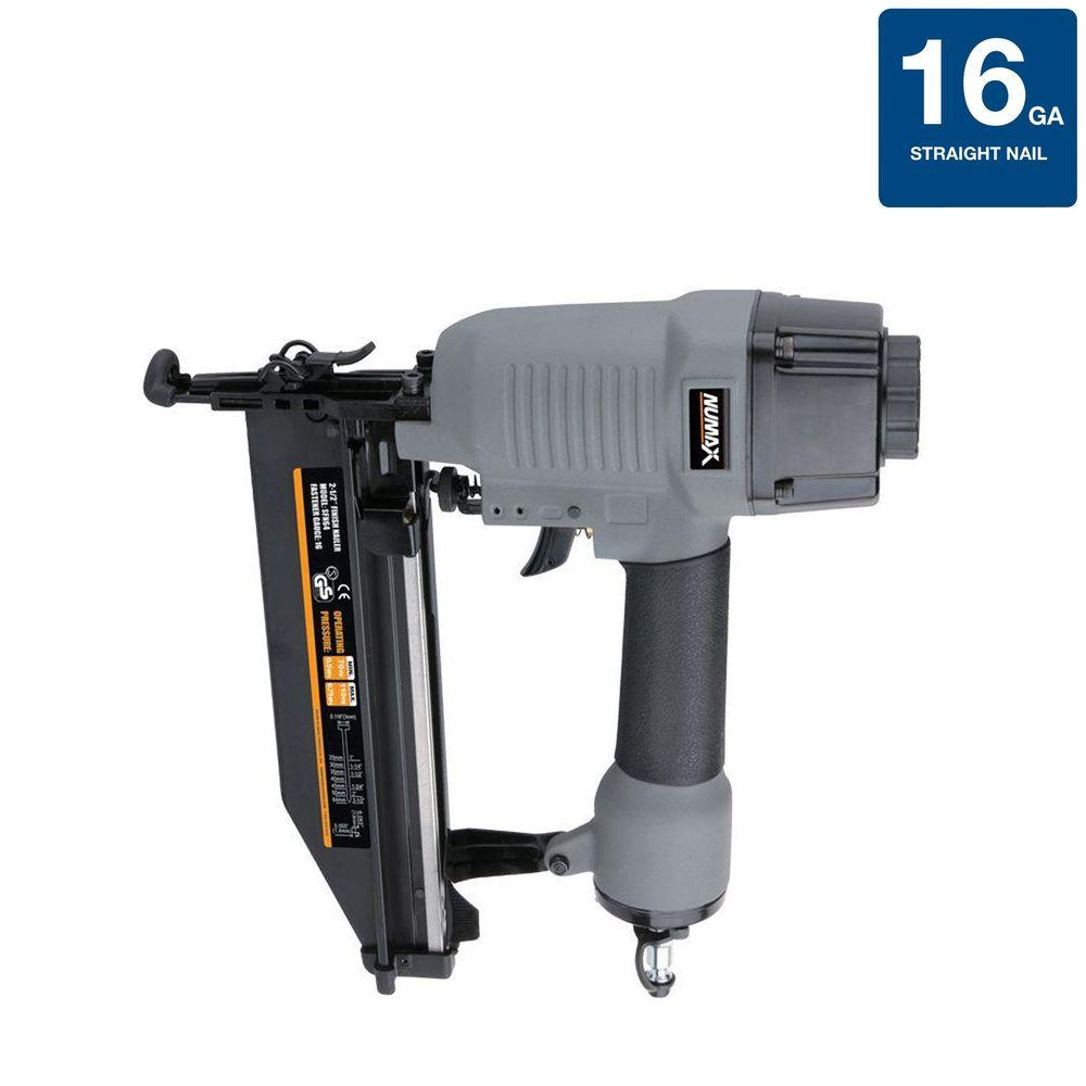 NuMax Pneumatic 2-1/2 in. x 16-Gauge Strip Straight Nailer ...