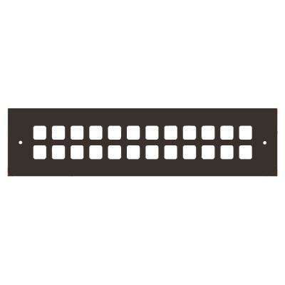 Square Series 12 in. x 2-1/4 in. Aluminum Grille, Oil Rubbed Bronze with Mounting Holes