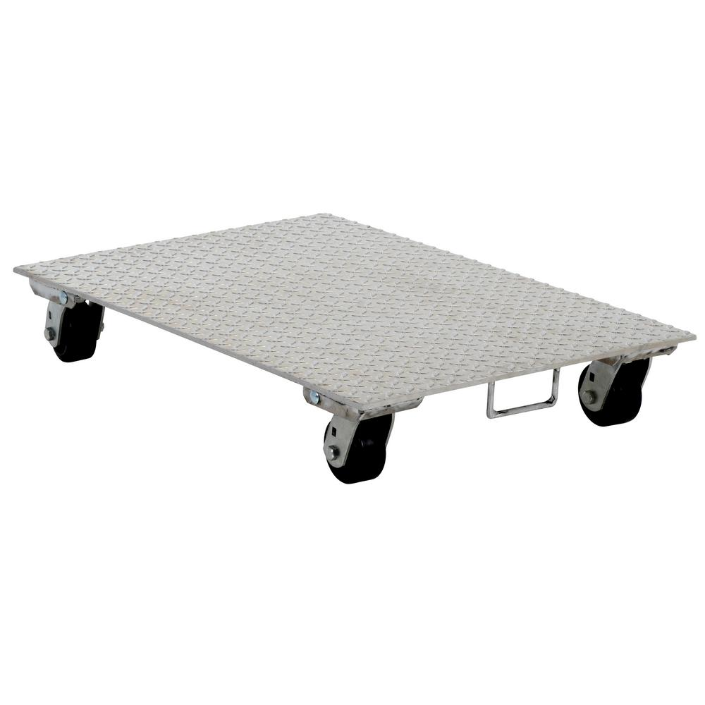 24 in. x 36 in. Aluminum Dolly with Steel Wheels and
