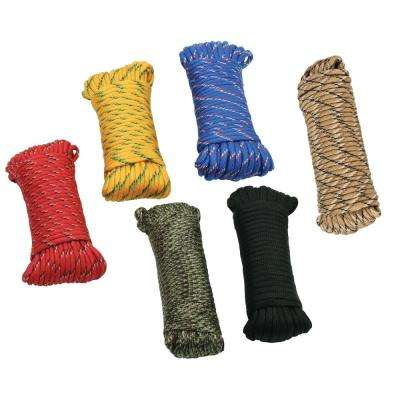 1/8 in. x 50 ft. Assorted Color Paracord