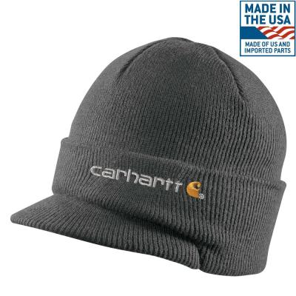 88f2f3c0843 Carhartt Men s OFA Heather Gray Acrylic Hat Headwear-A18-HGY - The ...