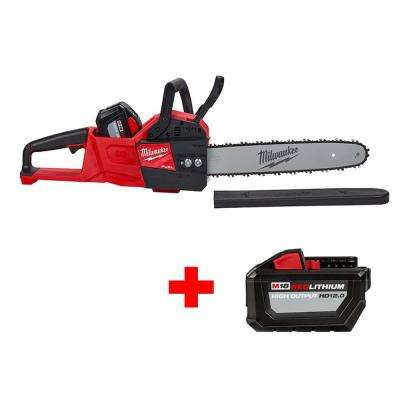 M18 FUEL 16 in. 18-Volt Lithium-Ion Battery Brushless Cordless Chainsaw Kit with Free High Output 12.0Ah Battery