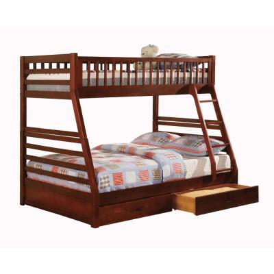 California II Cherry with 2-Drawers Twin and Full Bunk Bed