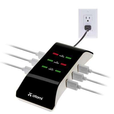 Atomi 6-Port USB Charging Hub, Black