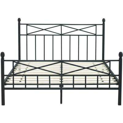 Uptown Black Metal Queen Platform Bed