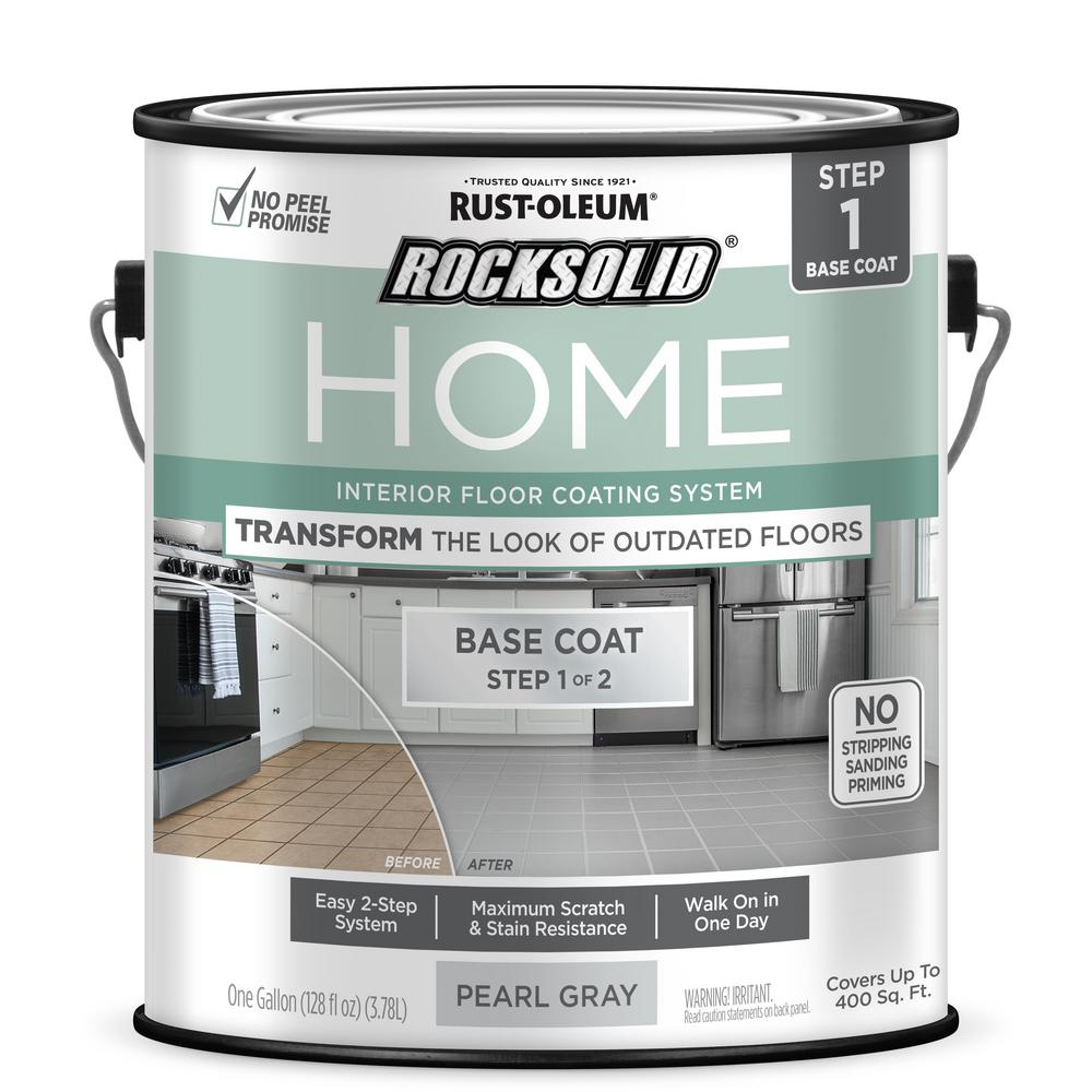 RustOleumRockSolid Rust-Oleum RockSolid Home 1 gal. Pearl Gray Interior Floor Base Coating (2-Pack)