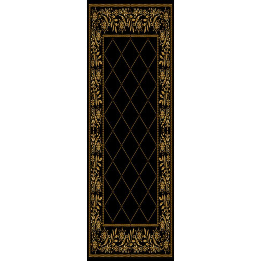 Home Dynamix Bazaar Roy Black 5 ft. 2 in. x 7 ft. 2 in. in.door Area Rug