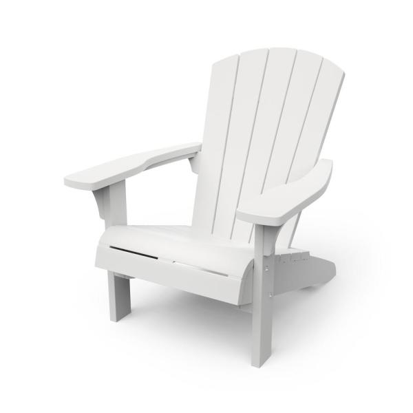Keter Troy White Adirondack Chair 246668 The Home Depot