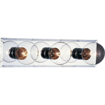 3-Light Chrome Bath and Vanity Light