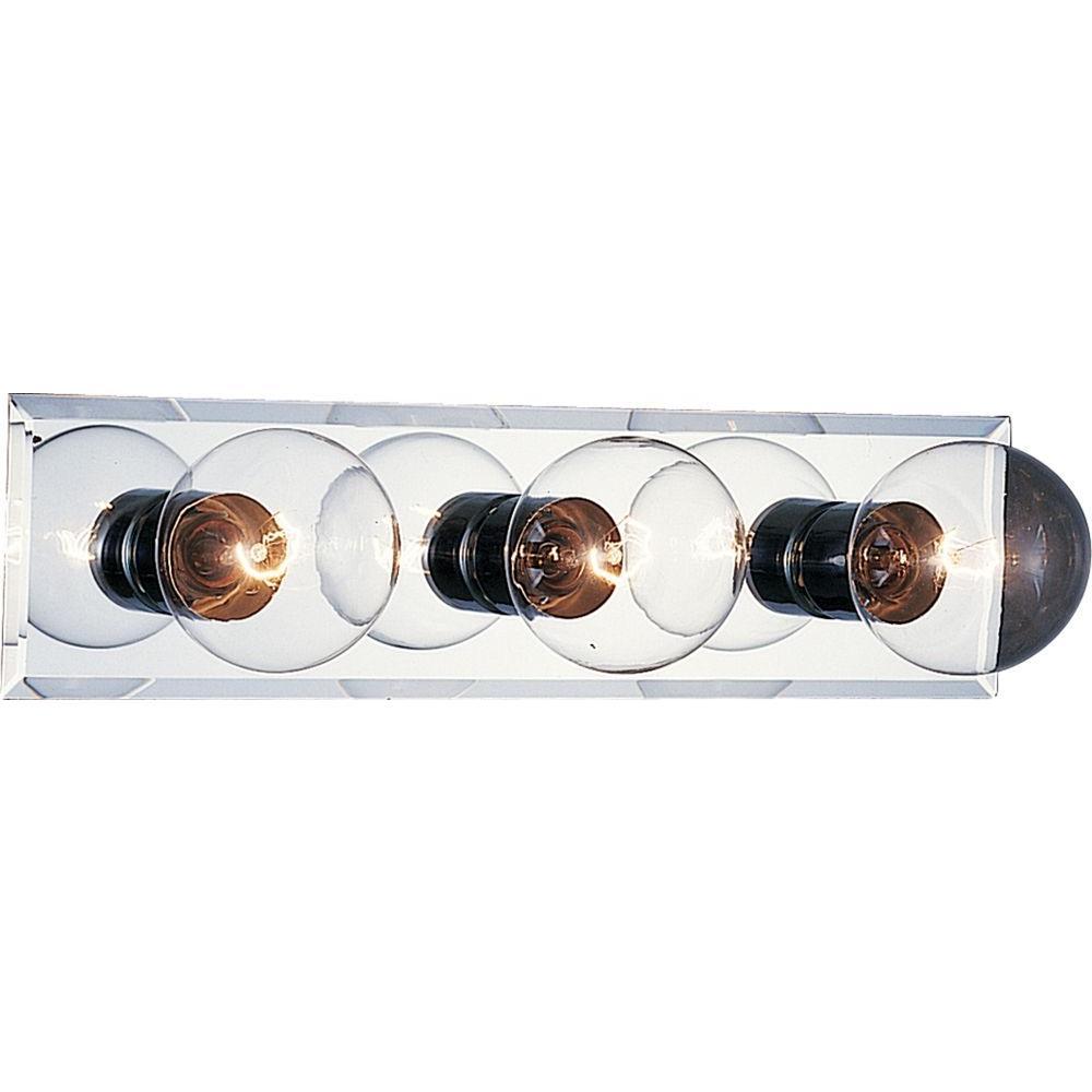 3-Light Chrome Bath and Vanity Light