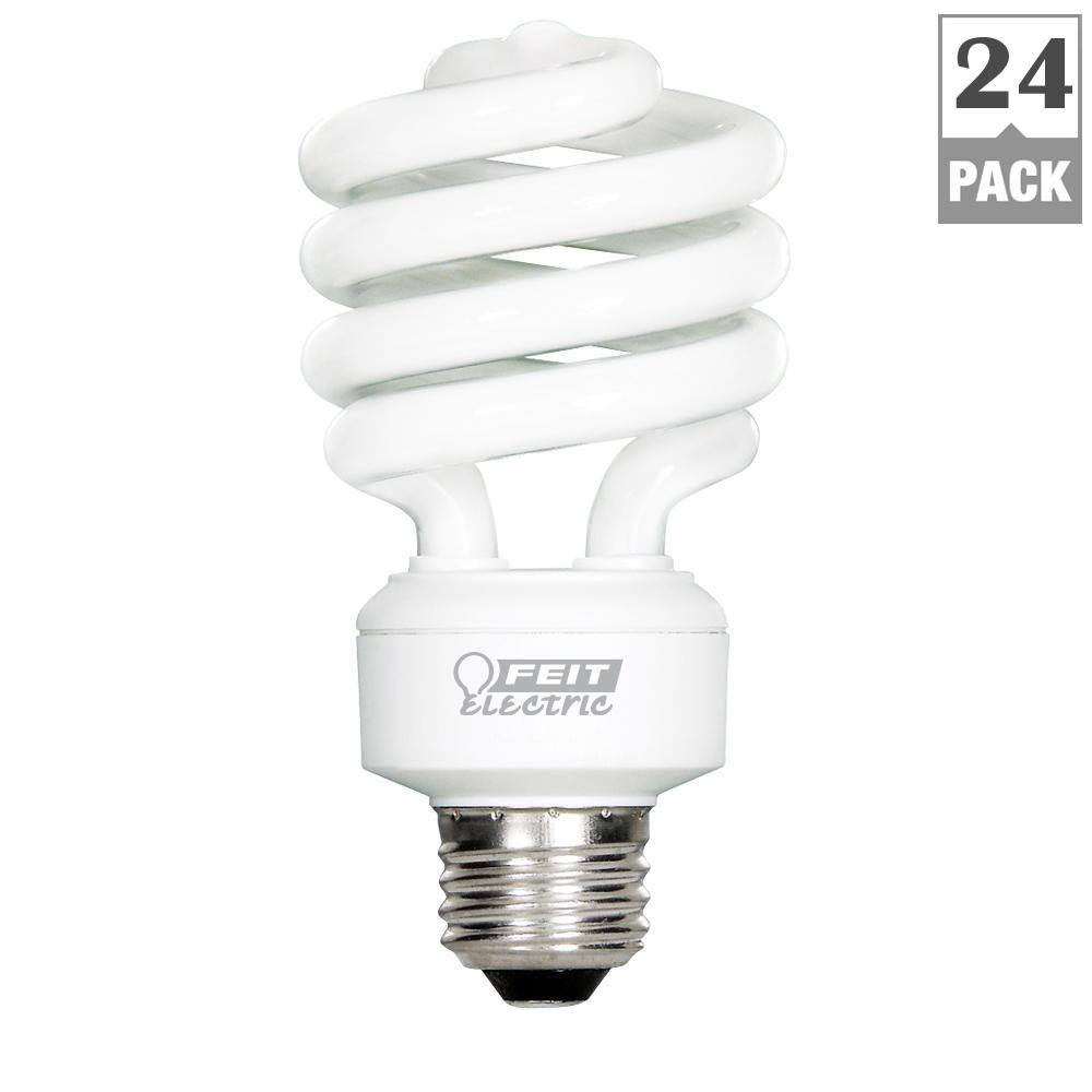 100W Equivalent Daylight (6500K) A19 Spiral CFL Light Bulb (Case of