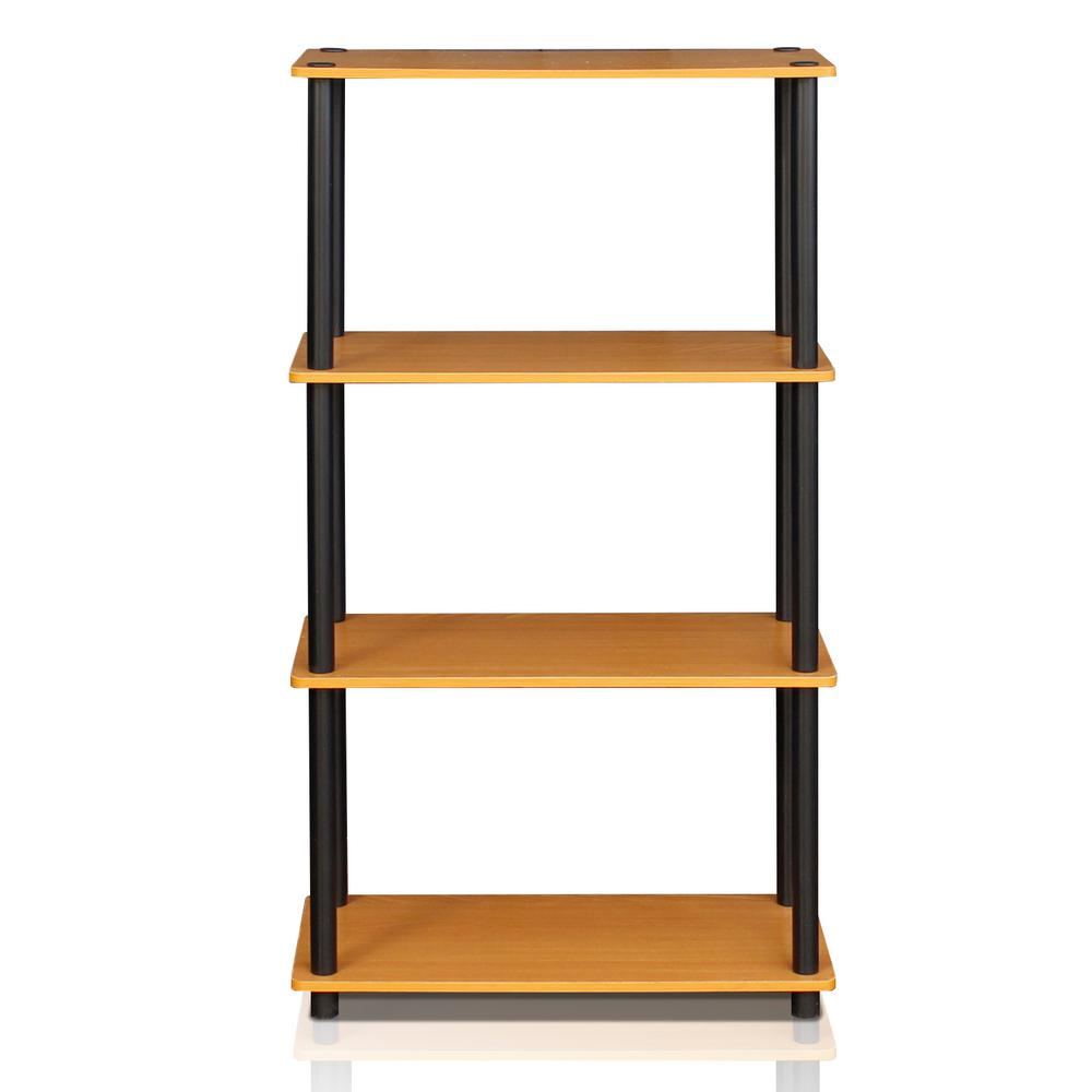 Furinno Turn N Tube Light Cherry Open Bookcase 99557LC BK
