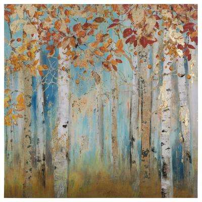 "40 in. x 40 in. ""Birch Beauties II"" Printed Canvas Wall Art"
