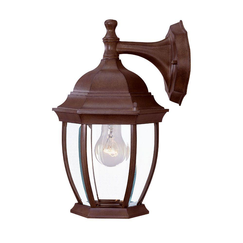 french outdoor lighting. Acclaim Lighting Wexford Collection 1-Light Burled Walnut Outdoor Wall-Mount Light Fixture French L