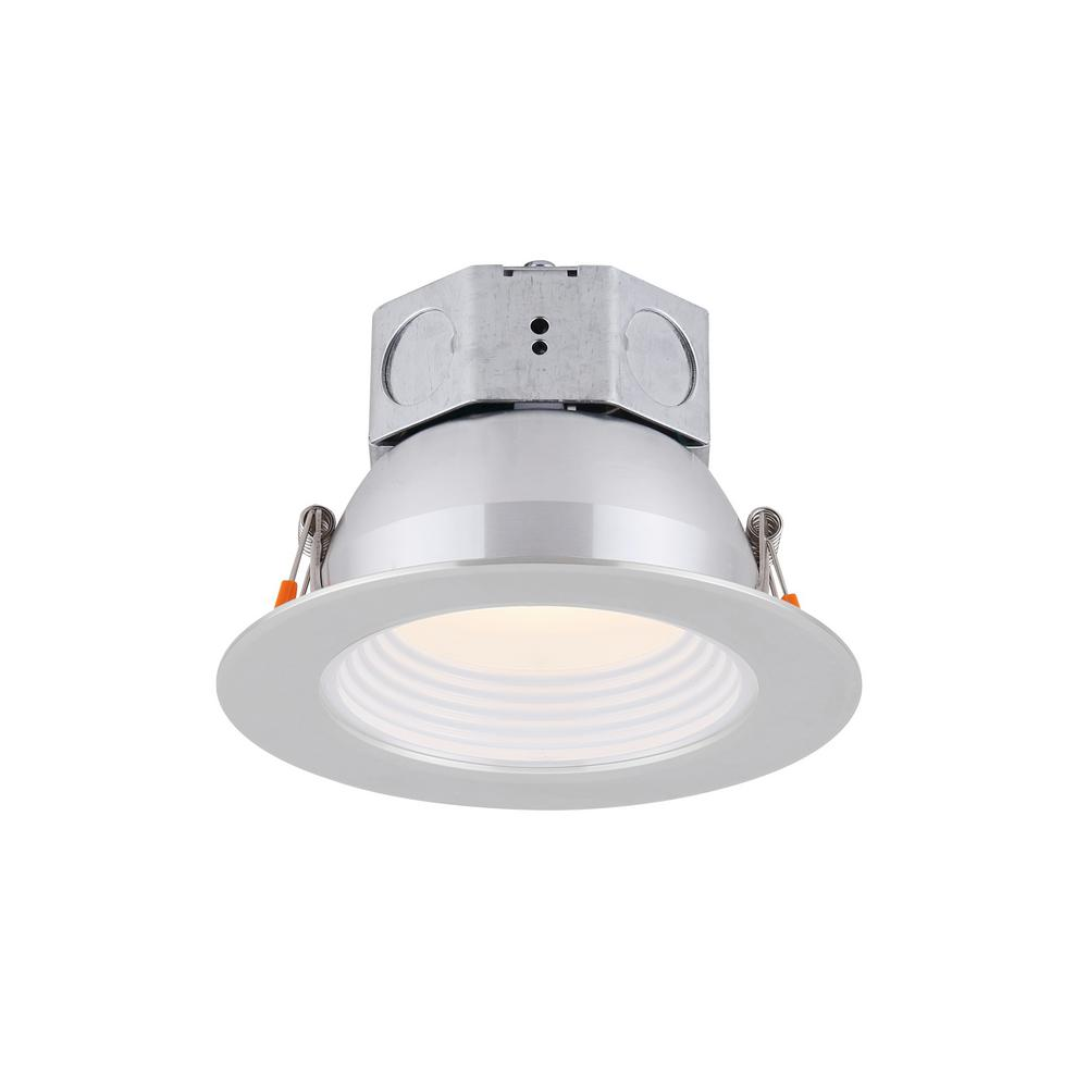 Canarm 4 In Brushed Nickel Integrated Led Recessed Kit