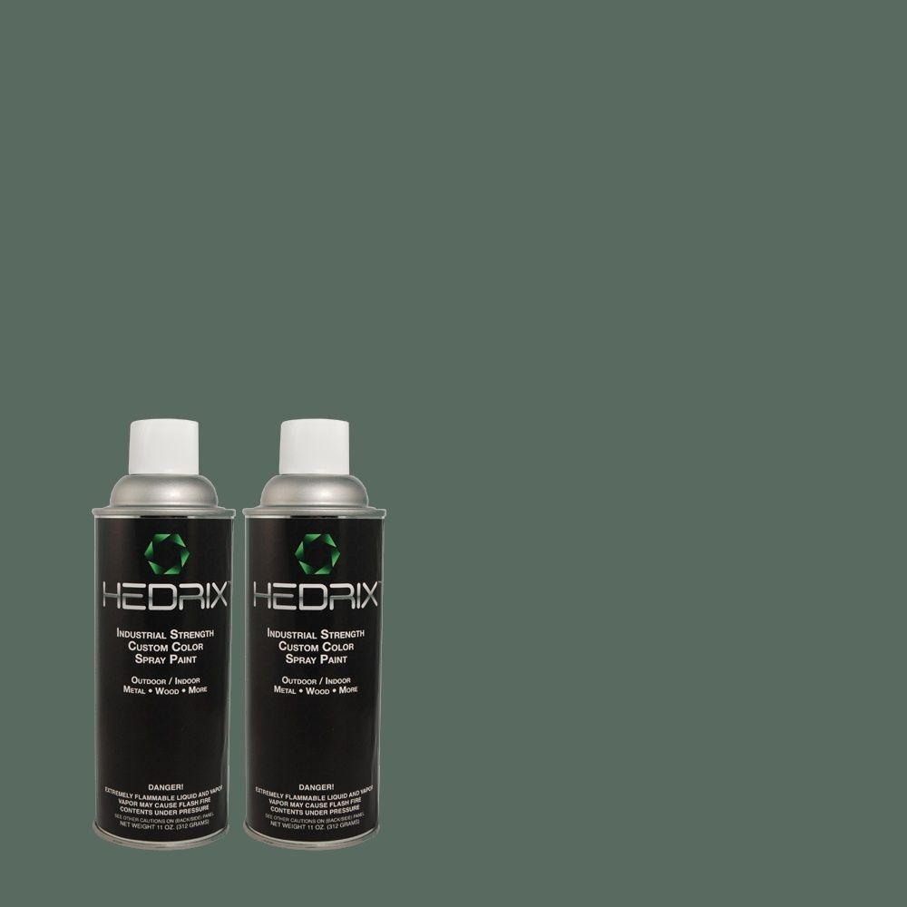 Hedrix 11 oz. Match of 500F-7 Mythic Forest Semi-Gloss Custom Spray Paint (2-Pack)