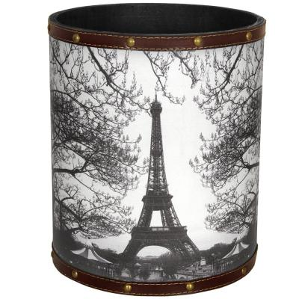 Oriental Furniture 8.25 in. x 10 in. Eiffel Tower Waste Basket