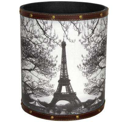 Oriental Furniture 8.25 in. x 10 in. Eiffel Tower Waste Basket