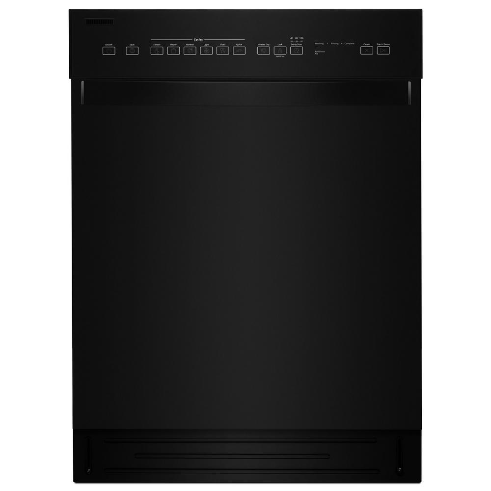 Whirlpool Front Control Built In Tall Tub Dishwasher In Black With Stainless Steel Tub 51 Dba Wdf550sahb The Home Depot