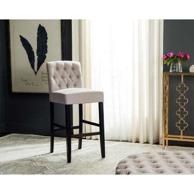 Maisie 30.7 in. Tufted Bar Stool in Taupe
