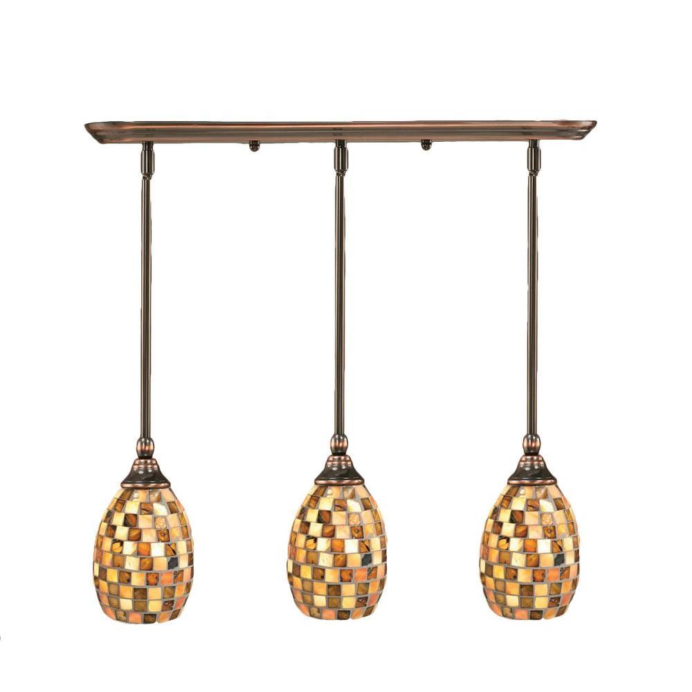 Filament Design Concord 3-Light Black Copper Incandescent Ceiling Pendant