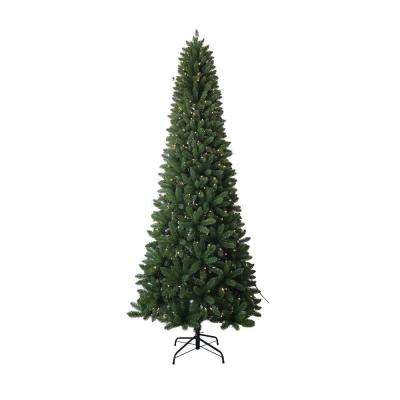 9 ft. PVC Slim Artificial Christmas Tree with UL Lights