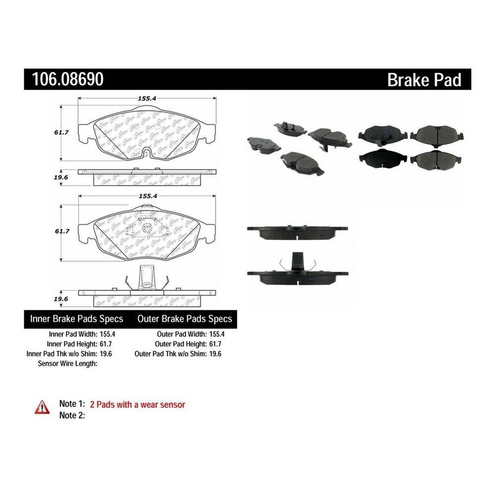 Centric Disc Brake Pad Set