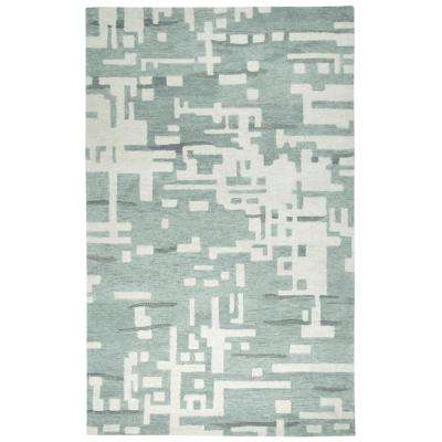 Leone Gray Abstract 9 ft. x 12 ft. Area Rug