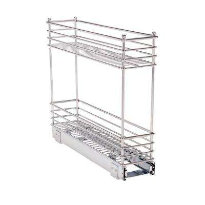 5 in. Deep 2 Tier Sliding Organizer KD in Chrome