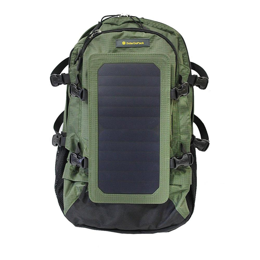 Solar Backpack, 10k mAh battery, 7-Watt Solar Panel in Ar...