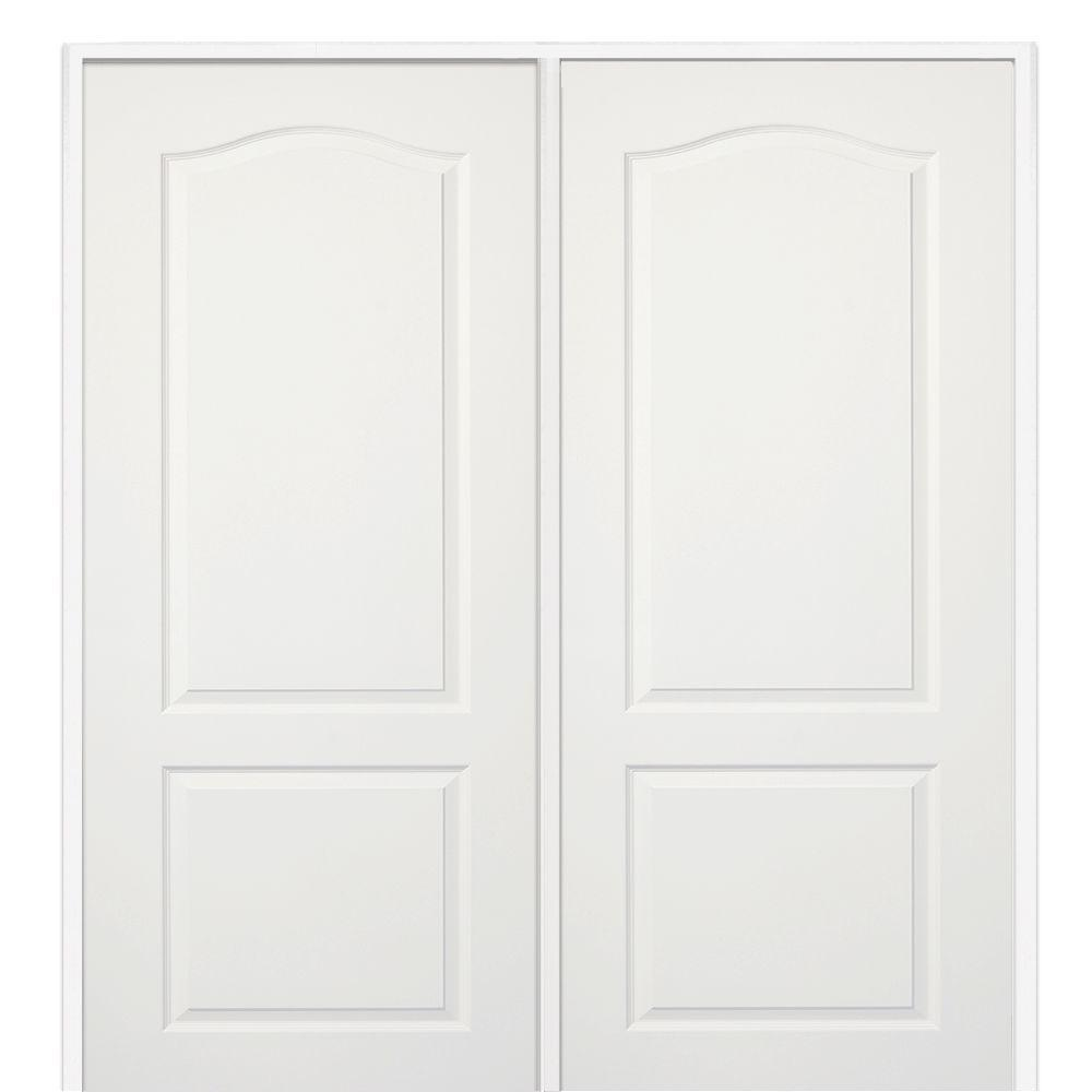 French doors interior closet doors the home depot 60 in x 80 in smooth princeton primed left hand active rubansaba