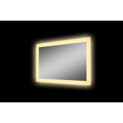 48x32 LED Mirror with Acrylic Boarder