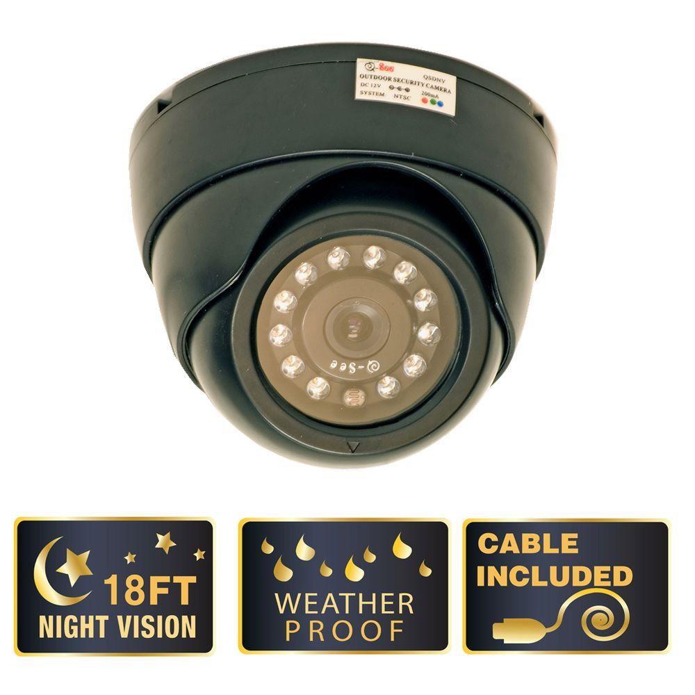 Q-SEE Lite Series 400 TVL CMOS Indoor/Outdoor Dome Shaped Surveillance Camera-DISCONTINUED