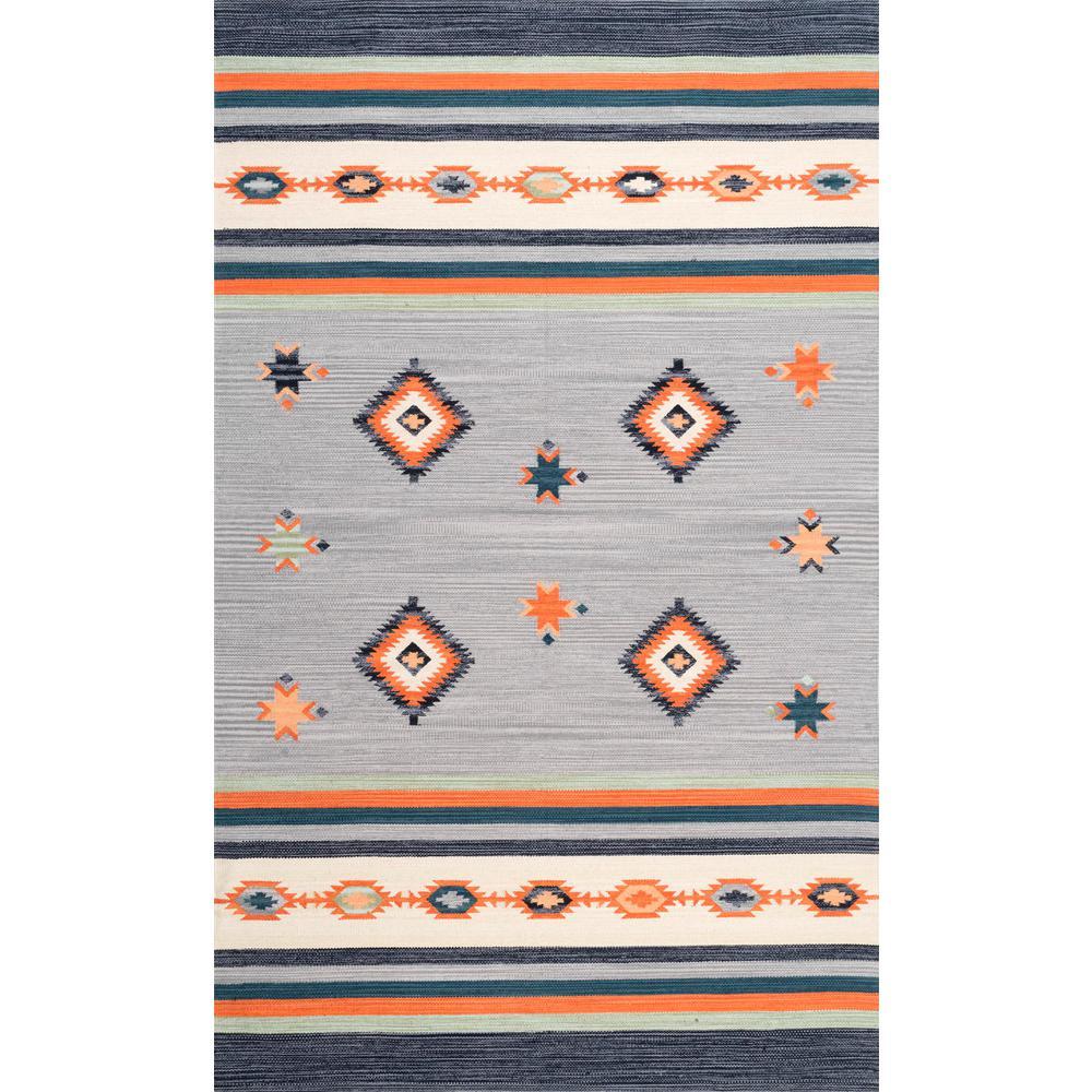 Kirchner Tribal Multi 6 ft. x 9 ft. Area Rug