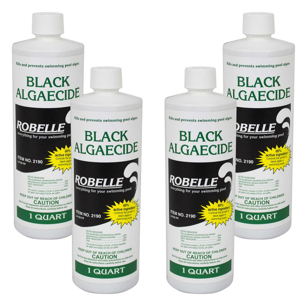 Robelle 1 Qt Black Algaecide For Swimming Pools 4 Pack 2190 04 The Home Depot