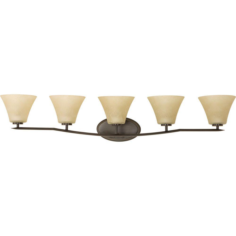Bravo Collection 5-Light Antique Bronze Bath Light