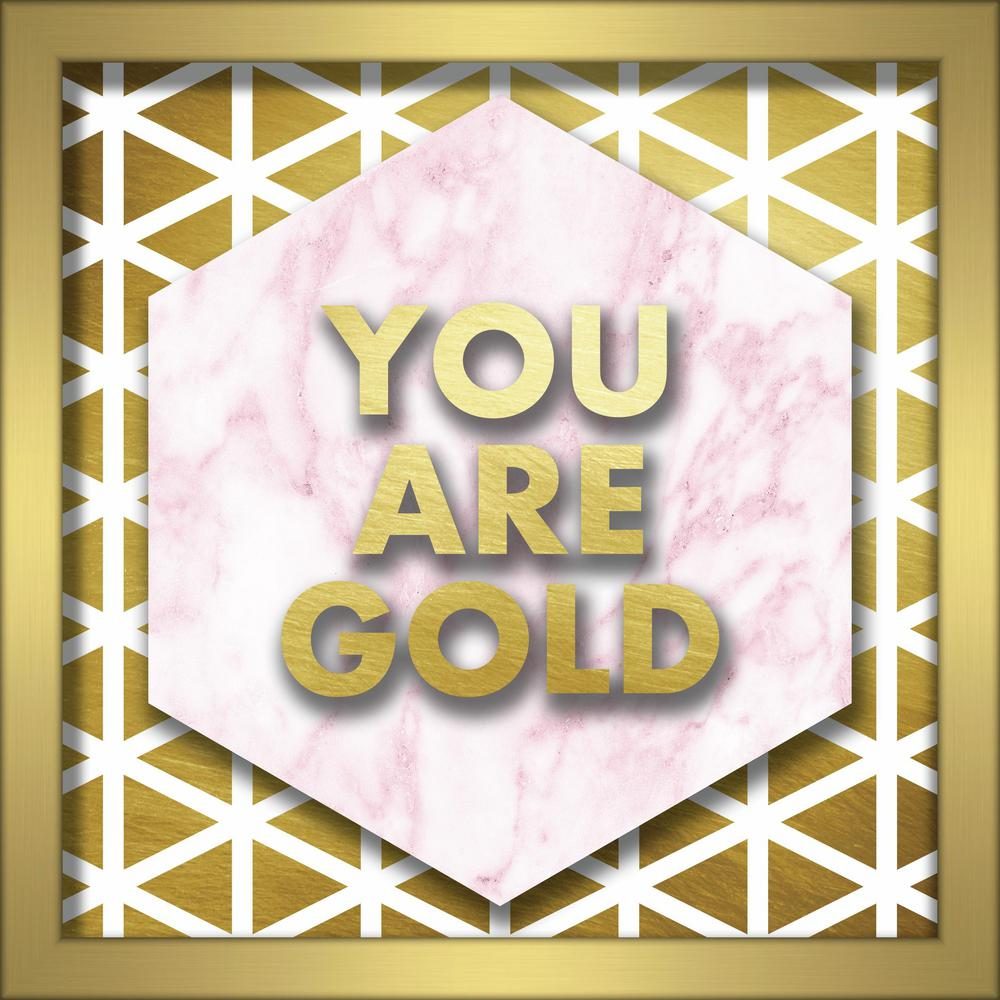 Linden Ave You Are Gold 10 in. x 10 in. Shadowbox Wall Art-AVE10367 ...