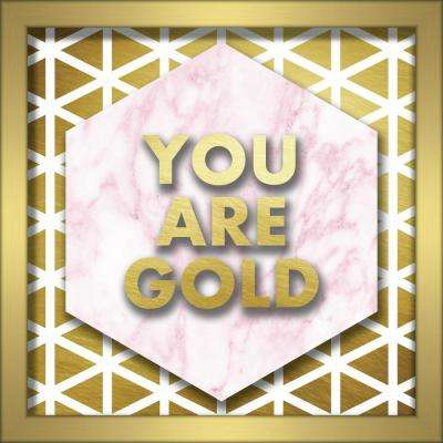 You Are Gold 10 in. x 10 in. Shadowbox Wall Art