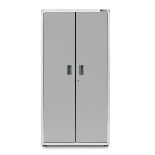 Ready to Assemble 72 in. H x 36 in. W x 24 in. D Steel Freestanding Garage Cabinet in White