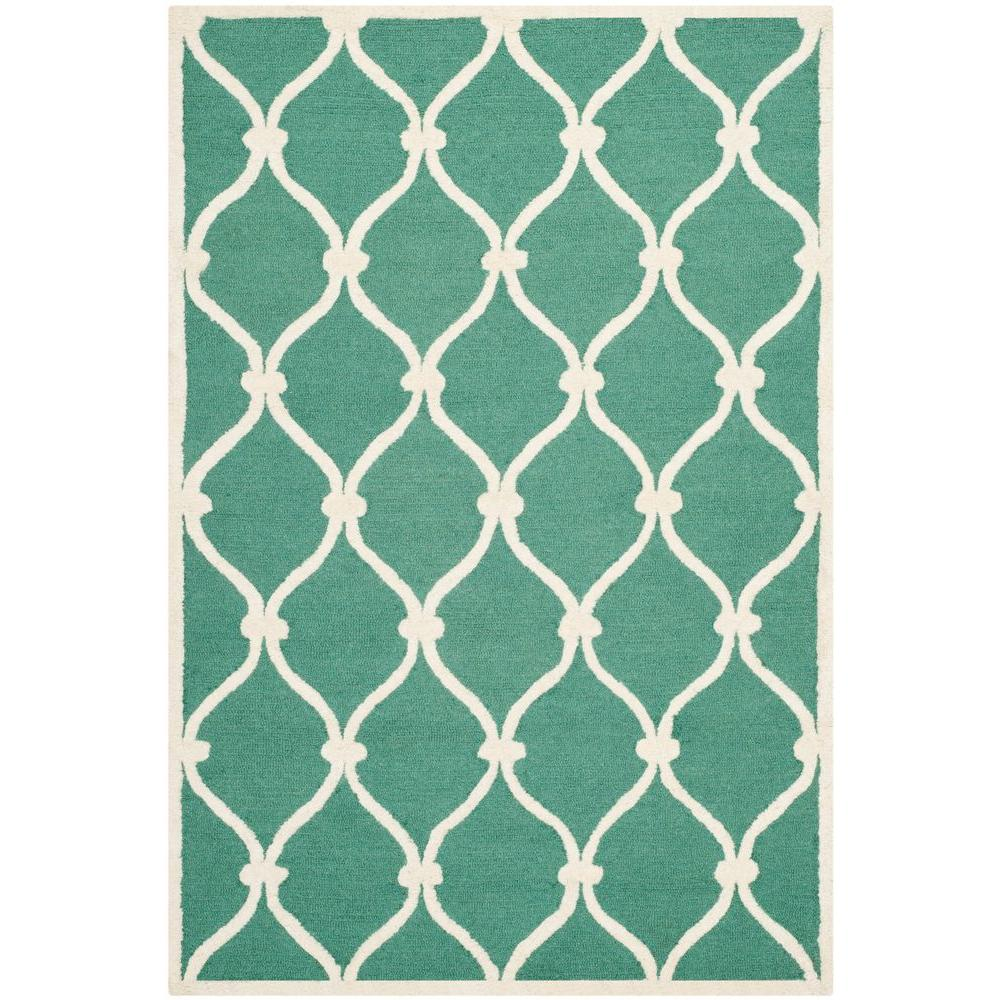 Safavieh Cambridge Teal/Ivory 4 Ft. X 6 Ft. Area Rug