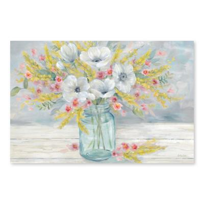 """Farmhouse Bouquet"" by Cynthia Coulter Hand Embellished Canvas Wall Art"