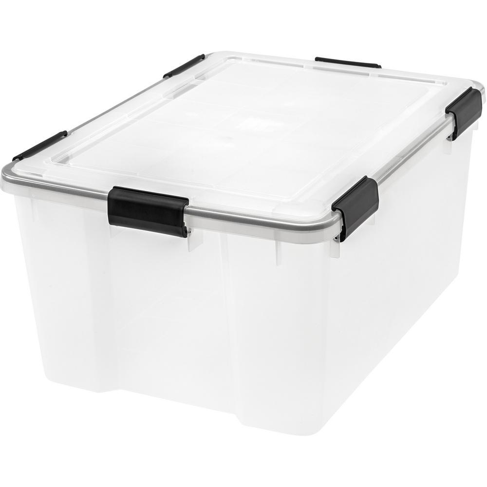 62 Qt. Weather Tight Storage Box in Clear