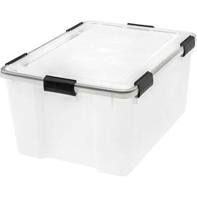 62 Qt. Weather Tight Storage Box in Clear