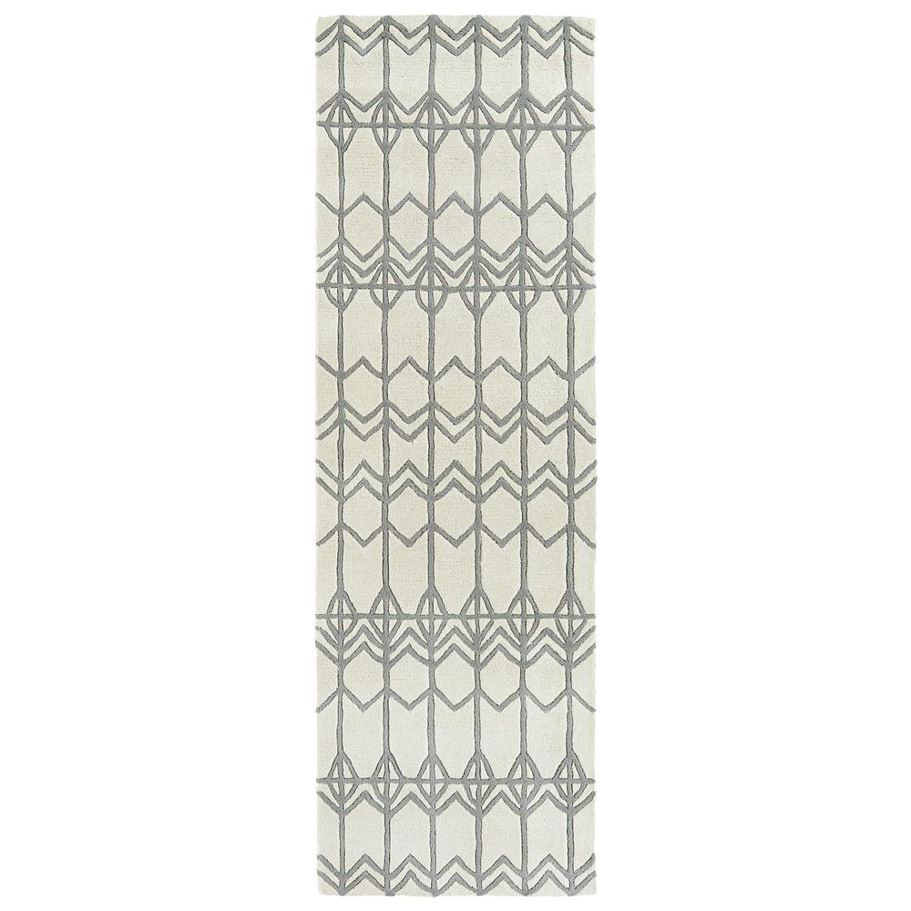 Origami Ivory 2 ft. 6 in. x 8 ft. Runner
