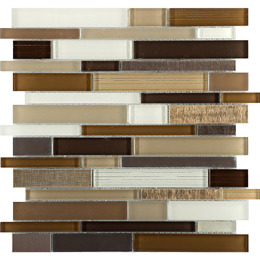 Emser Flash Radiant Glossy 11.5 in. x 11.93 in. x 10mm Glass Mesh-Mounted Mosaic Tile (0.95 sq. ft.)