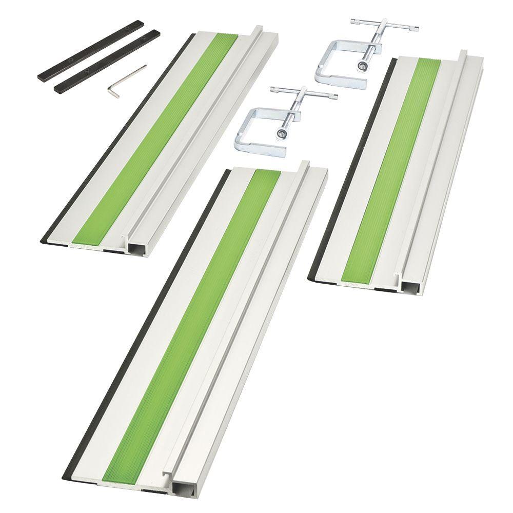 2 in. Aluminum Rip Cutting Track System (3-Piece)