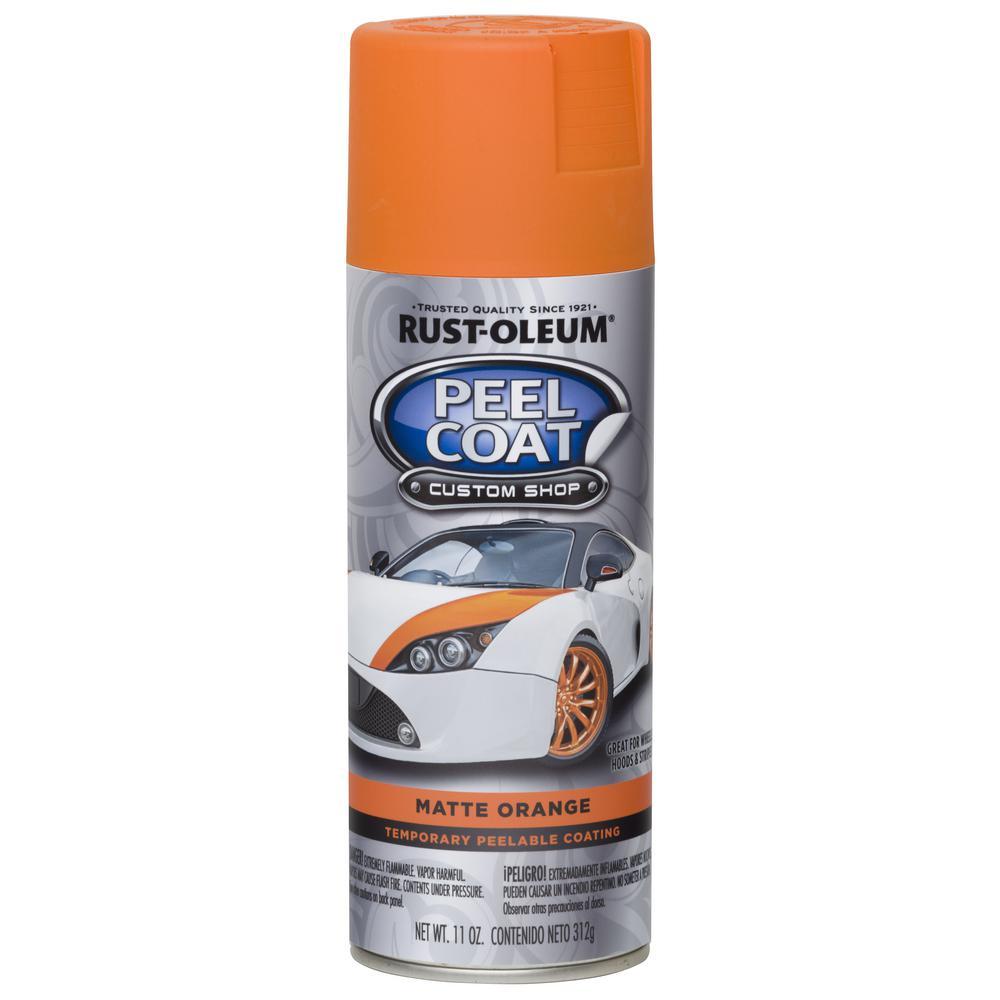 11 oz. Peel Coat Matte Orange Rubber Coating Spray Paint (6-Pack)