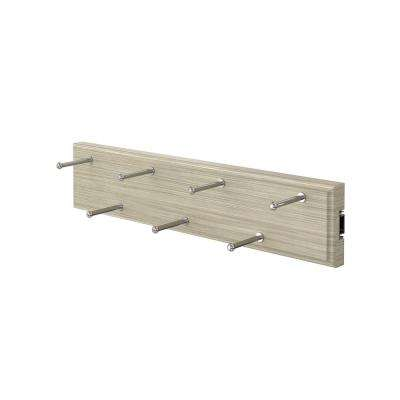 7-Hook Pull-Out Rustic Grey Belt Organizer