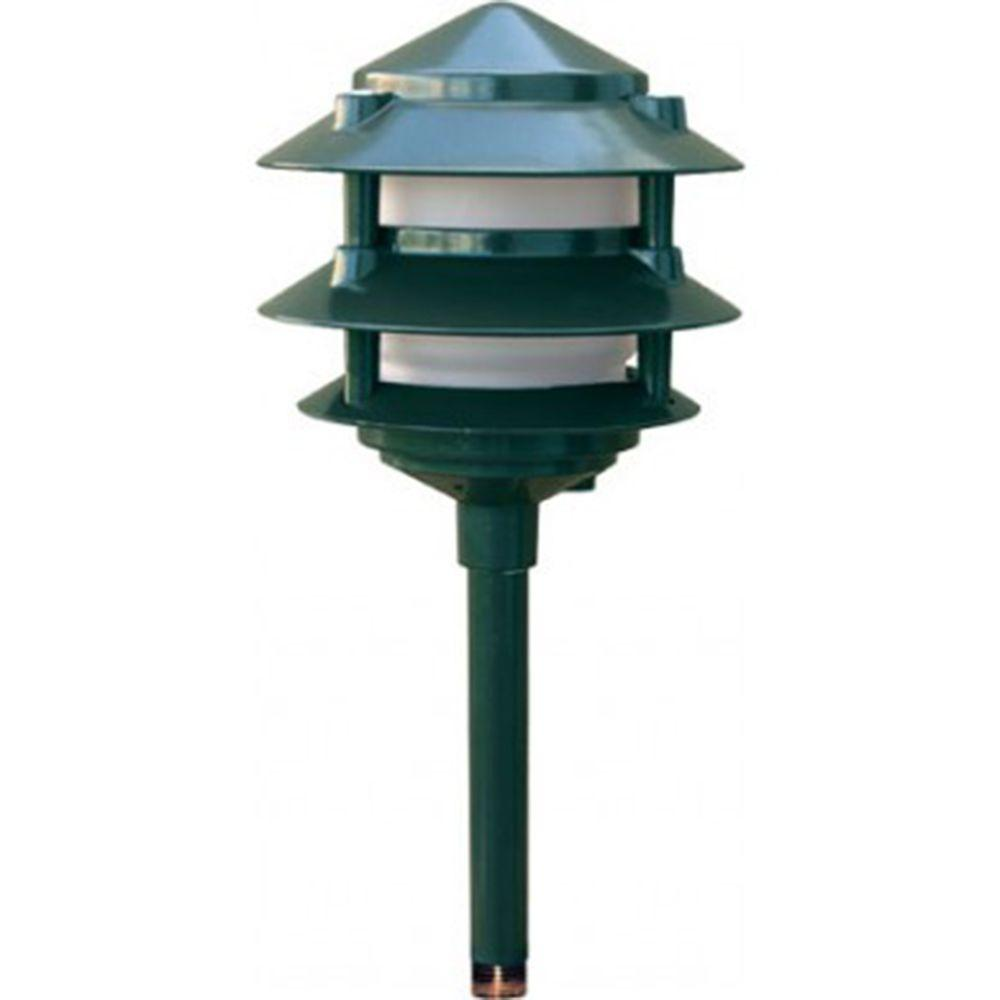 Porch Light Green: Filament Design Corbin 1-Light Green 3-Tier Pagoda Outdoor
