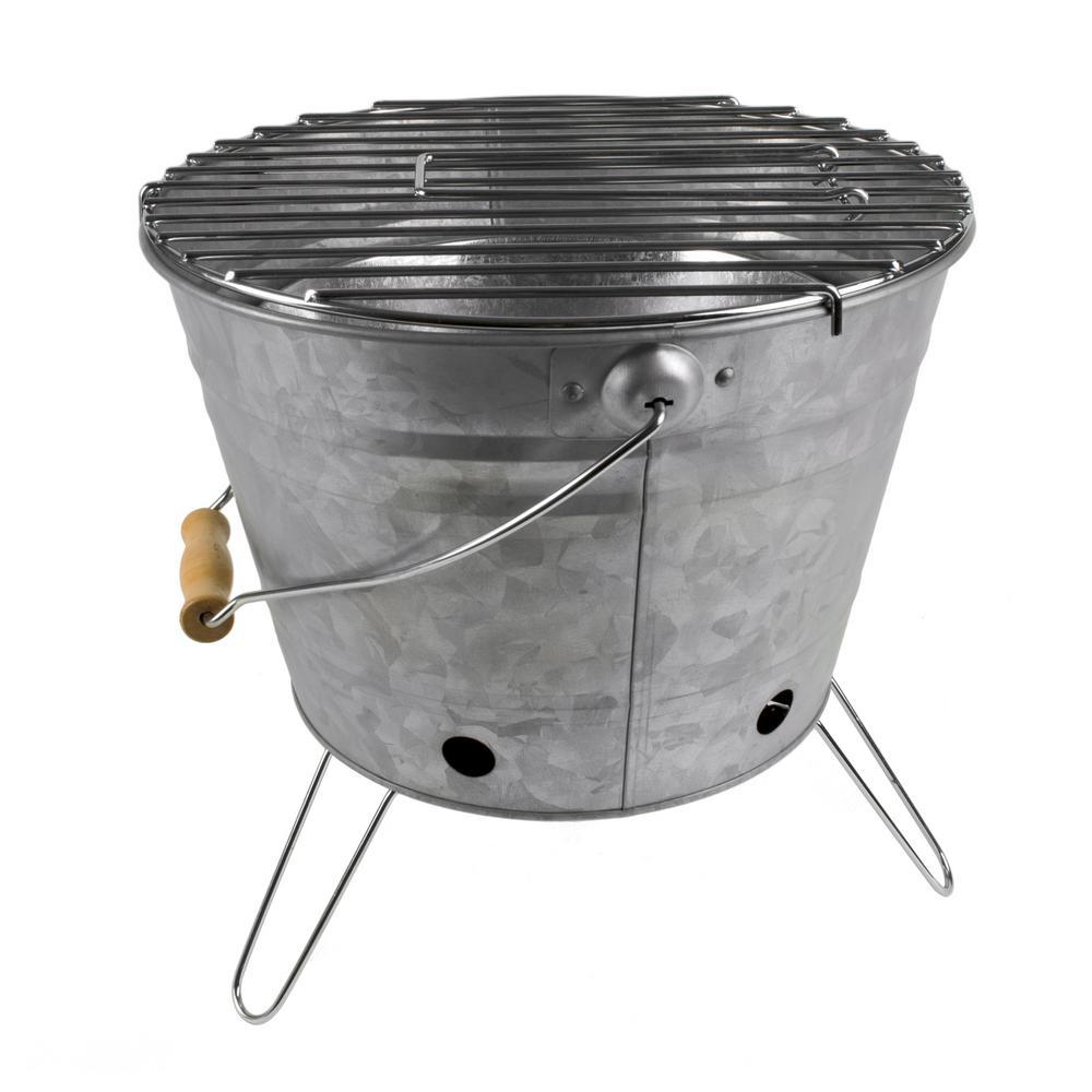 Masonware Portable Silver Colored Beach Grill